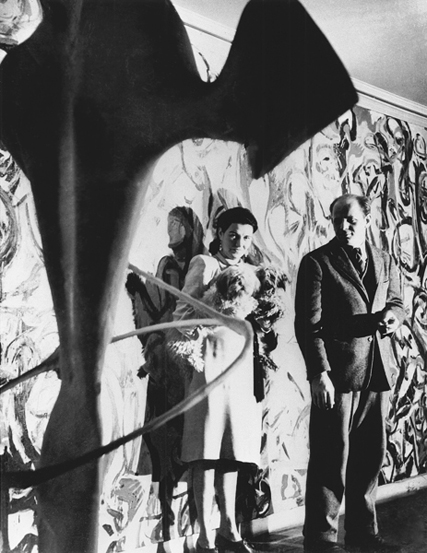 Peggy Guggenheim and Jackson Pollock