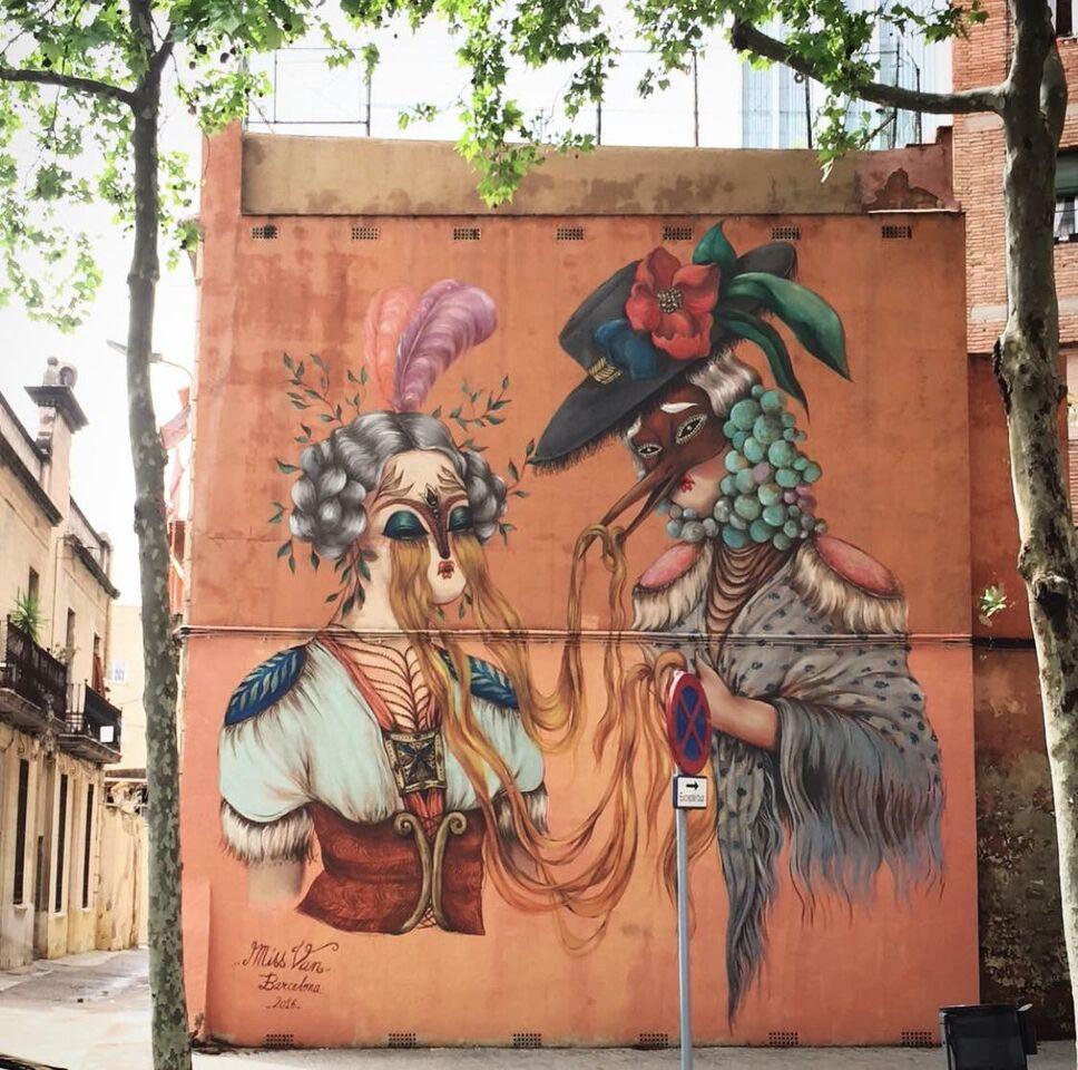 ©Miss Van, Carrer Lepant, Barcelona, capital of Spain