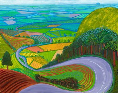 Garrowby Hill, 1998 ©David Hockney