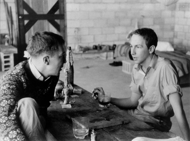 Jasper Johns and Robert Rauschenberg dans leur studio à NYC, 1950s