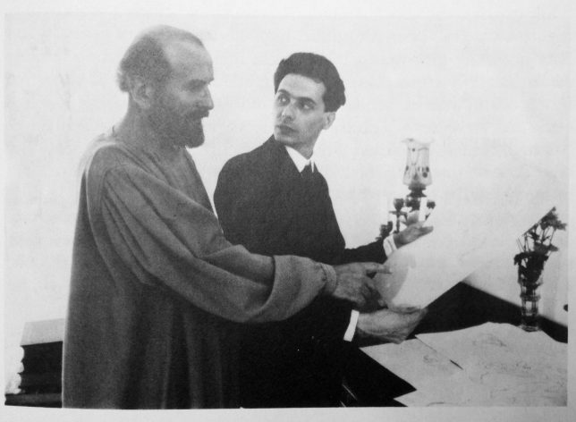 Egon Shiele and Gustav Klimt, 1908