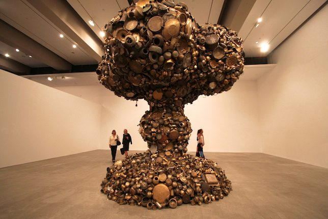 Subodh Gupta, Line of Control brass