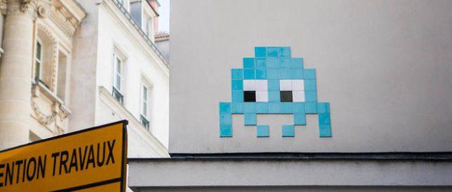 Invader - Space invader à Paris