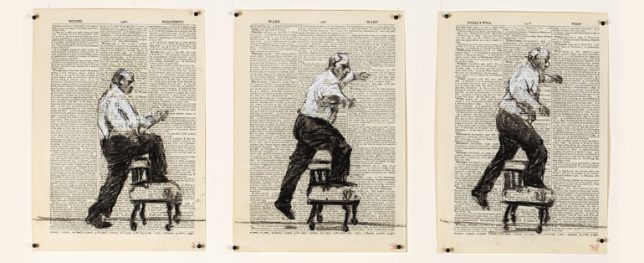 William Kentridge - The hope in the charcoal cloud (2014)