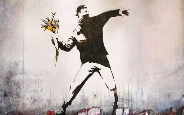 Banksy – The Flower Thrower
