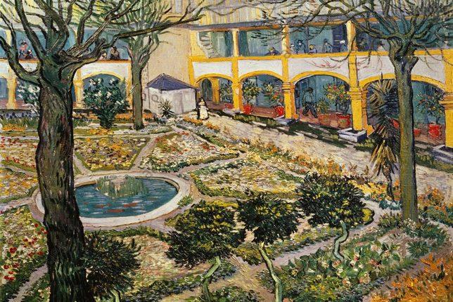 Van Gogh, Arles Hospital painting
