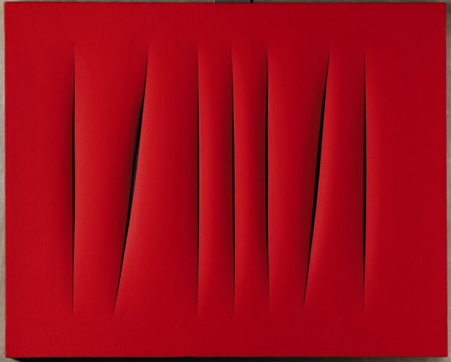 lucio fontana concetto spaziale painting
