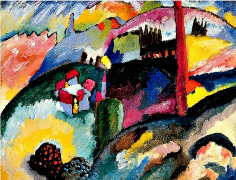 Vasily Kandinsky, Landscape with Factory Chimney, 1910