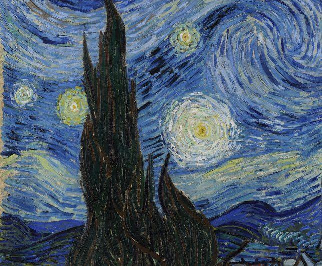 Cyprès la nuit étoilée Van Gogh