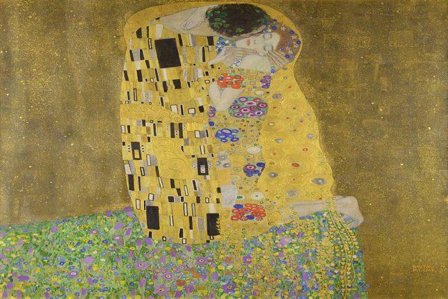 Klimt le baiser gold