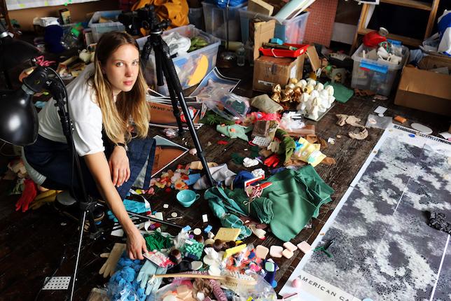 Sara Cwynar in her studio