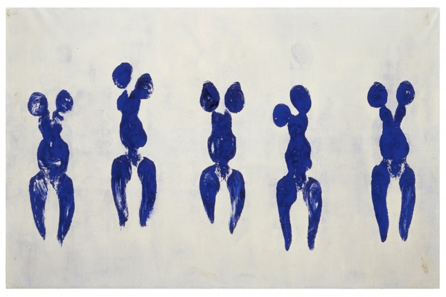 Yves Klein, Anthropométrie de l'Époque Bleue
