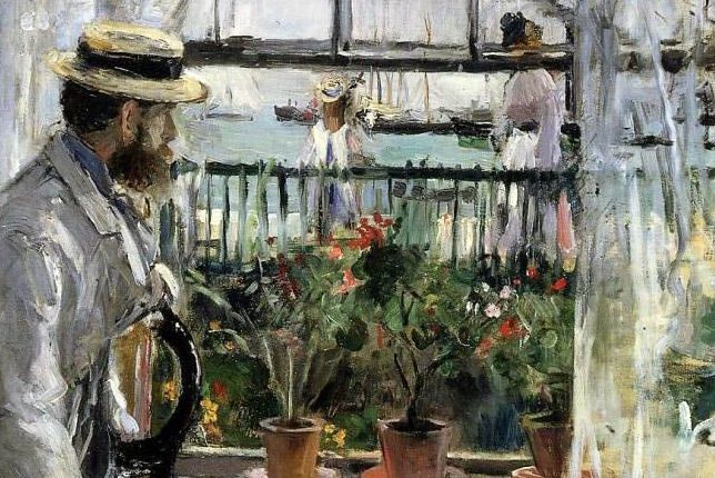Berthe Morisot Eugène Manet on the Isle of Wight