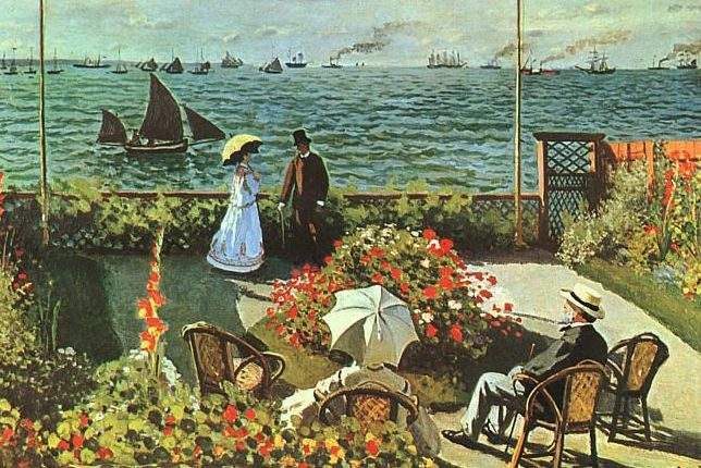 Claude Monet Garden at Saint-Adresse