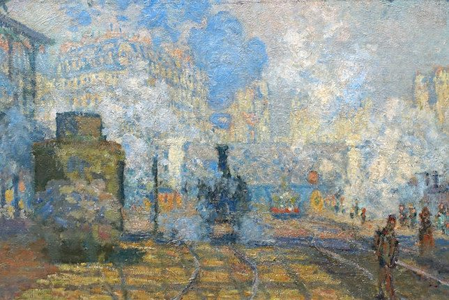 Claude Monet The Gare Saint-Lazare (or Interior View of the Gare Saint-Lazare, the Auteuil Line) (1877)