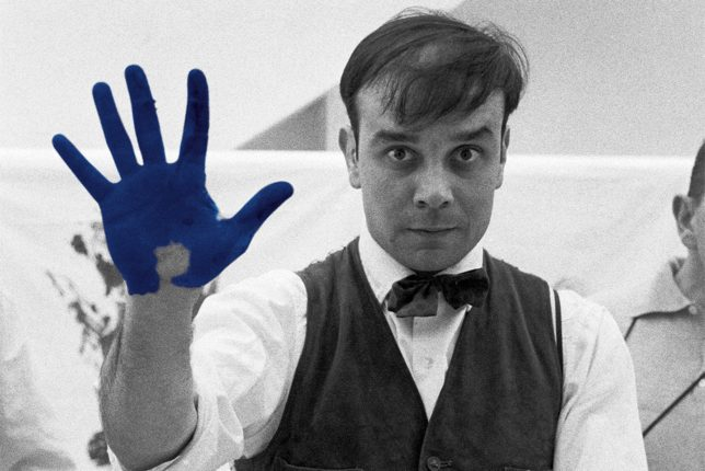 Photograph of Yves Klein taken by Charles Paul Wilp
