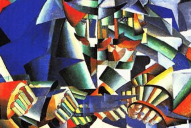 Kazimir Malevich, Knife Grinder (Principle of Glittering), (1912–1913)