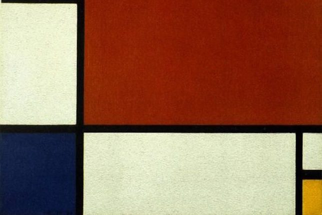 Piet Mondrian, Composition II in Red, Blue, and Yellow, 1929