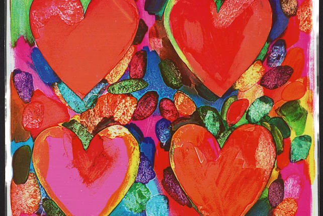 Jim Dine, Four Hearts, 1969