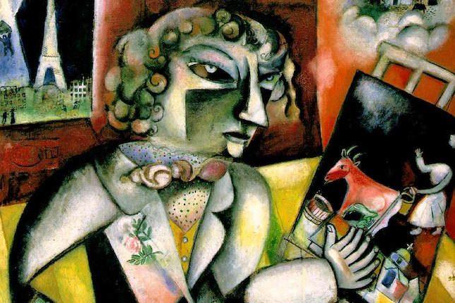 Marc Chagall, Autoportrait aux sept doigts, 1913