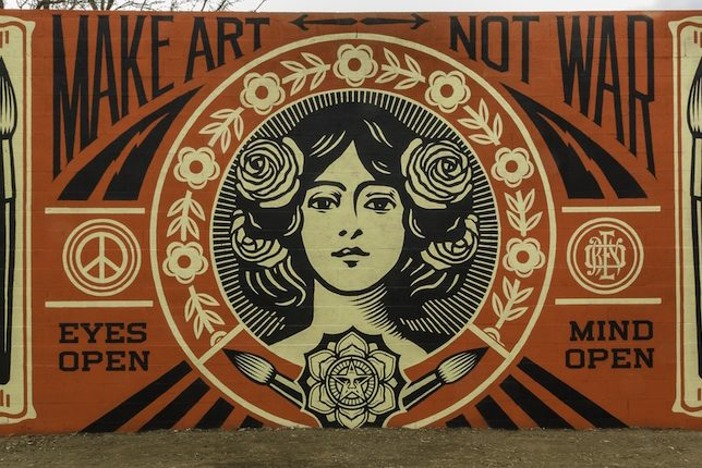 Shepard Fairey, Make Art Not War, Santa Fe, USA