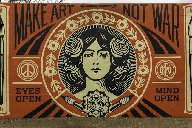 Shepard Fairey, Make Art Not War, Santa Fe, USA