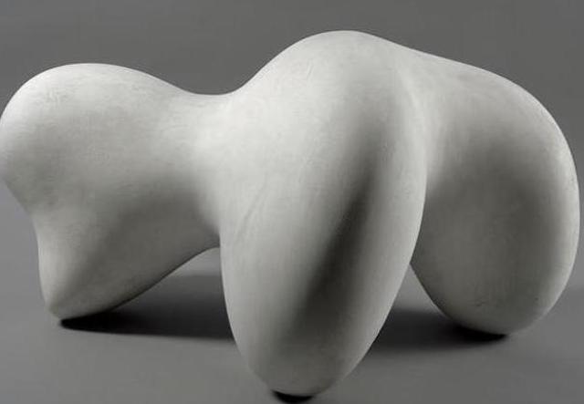 Jean Arp's Concrétion humaine sur coupe