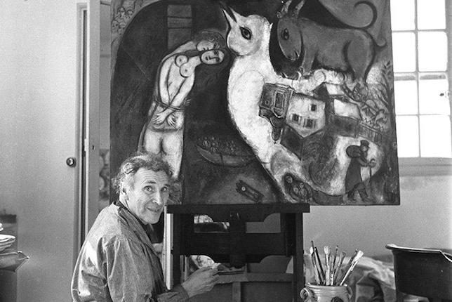 Marc Chagall in his atelier