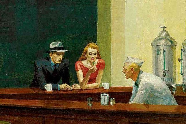 Edward Hopper, Close-up of Nighthawks, 1942