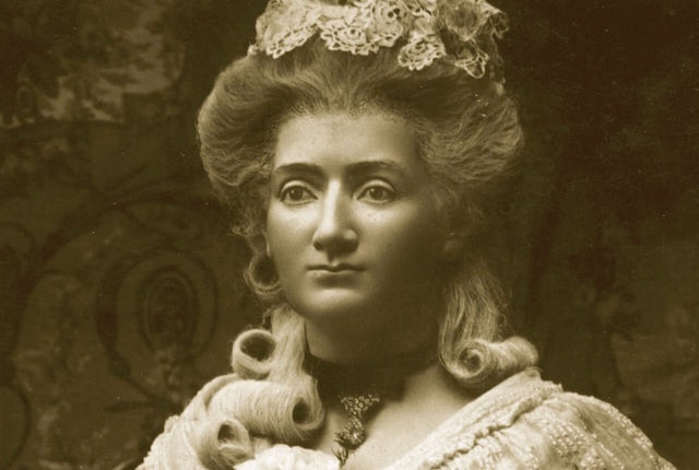 a photograph of Marie Tussaud's waxwork self portait