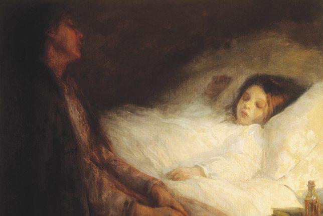 Laura Muntz Lyall, Mère veillant son enfant, 1894