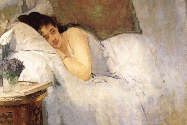 Eva Gonzales, Jeune fille au réveil, 1876