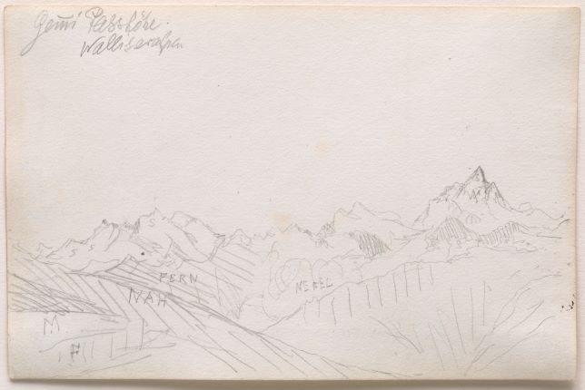 Paul Klee, Gemmi Passhöhe, Walliseralpen, vers 1895