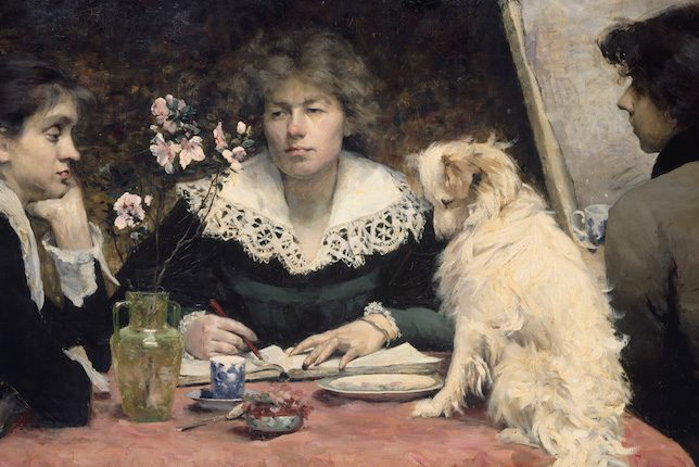 Louise-Catherine Breslau, 'The Friends (Les amies)', 1881,
