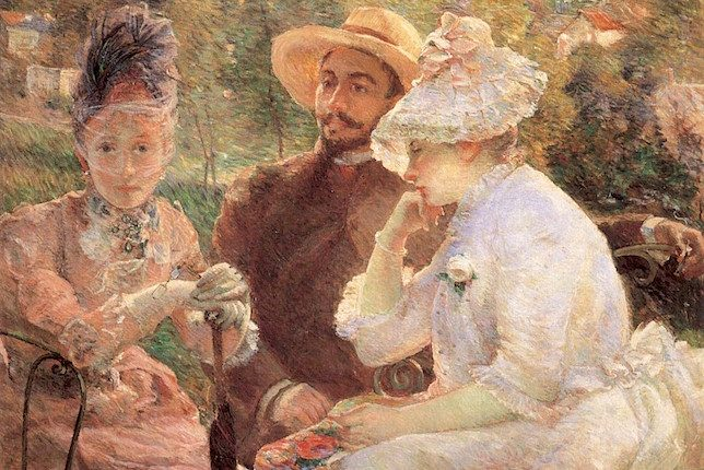 Marie Bracquemond, On the Terrace at Sèvres, 1880
