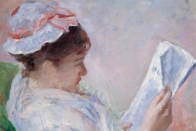 Mary Cassatt, Lydia Cassatt lisant le journal du matin (N. 1), 1878-79