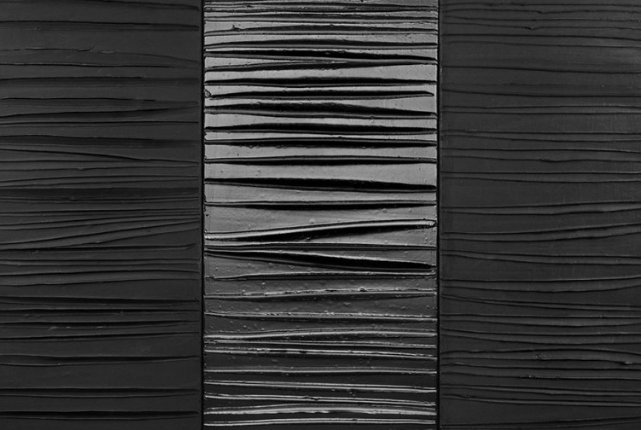 Pierre Soulages - Painting 181x244 25 February, 2009 -  triptych, acrylic on canvas