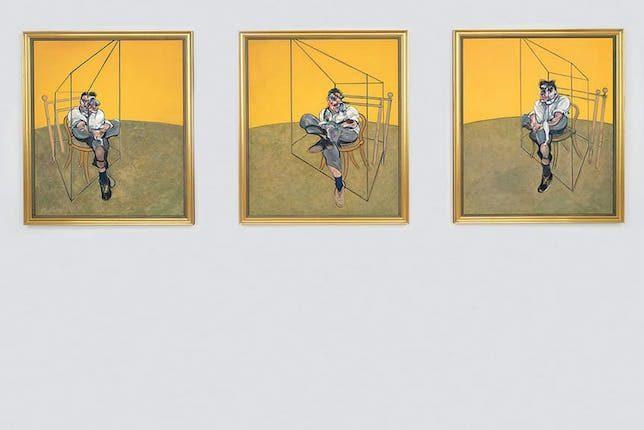 Image décorative: 25 Œuvres contemporaines à connaître absolument: Francis Bacon, Trois études de Lucian Freud, 1969