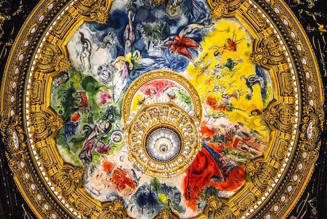 Image décorative: 25 Œuvres contemporaines à connaître absolument: Marc Chagall, Ceiling of Paris Opéra Garnier, 1964