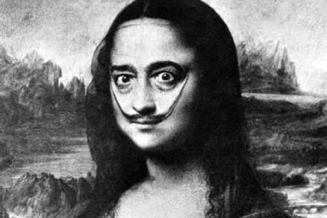 Salvador Dalí as the Mona Lisa in Dali's Mustache: Halsman′s photographs of Salvador Dalí