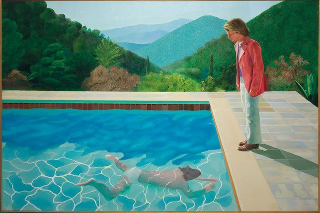 Image décorative: 25 Œuvres contemporaines à connaître absolument: David Hockney, Portrait of an Artist ( Pool with two Figures), 1972