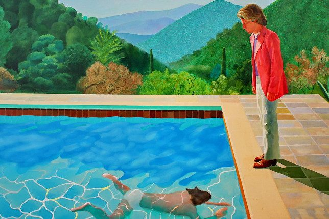 David Hockney Portrait of an Artist man in a swimming pool
