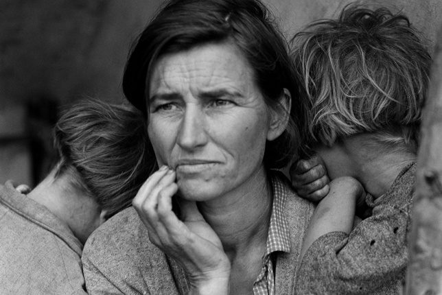 Dorothea Lange (vers 1936) Migrant Mother, Victoria and Albert Museum, Londres