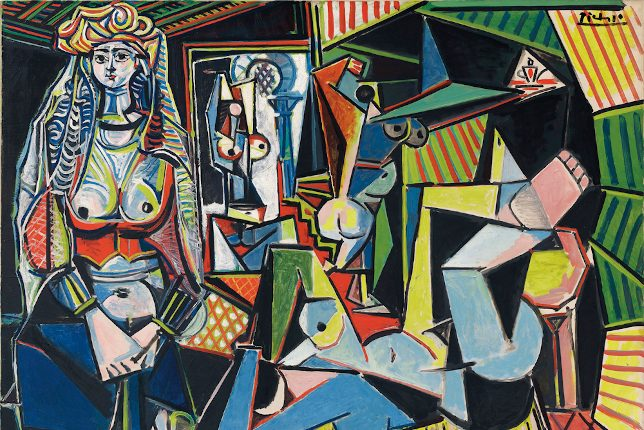 Pablo Picasso shows geometric women painted folowing cubism