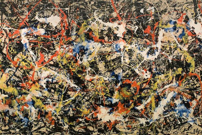 Jackson Pollock Number 17A tableau action painting abstrait minimal