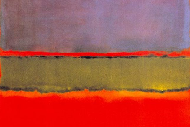 Mark Rothko No. 6 abstract geometric painting