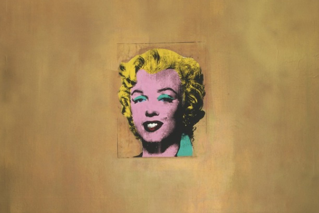Photograph of Golden Marilyn by Andy Warhol, MoMA, New York