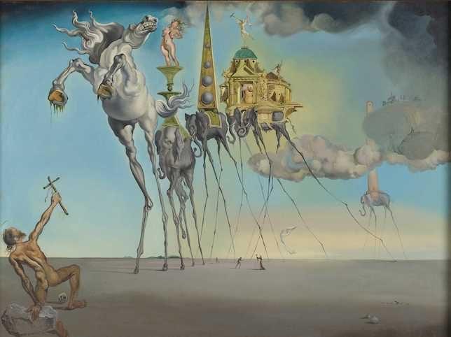 Salvador Dalí, La Tentation de Saint-Antoine