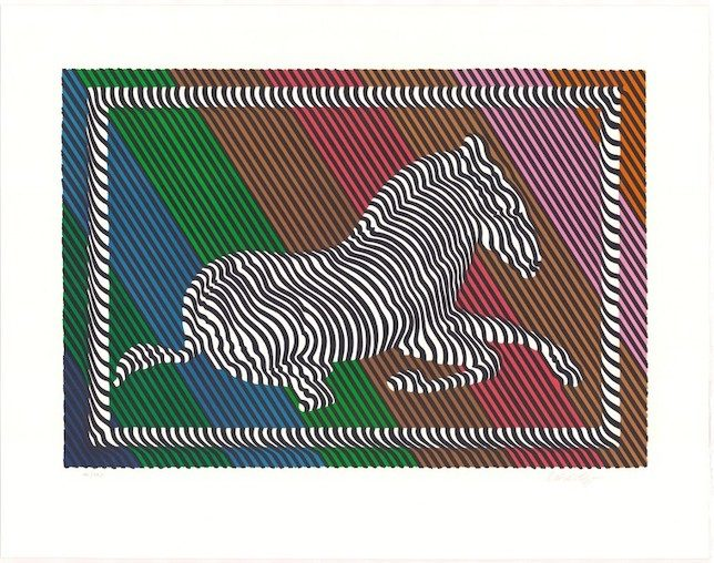 Victor Vasarely Zebra No. 3