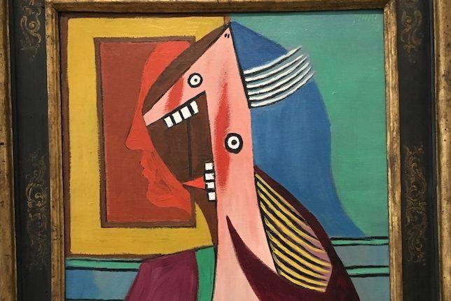 Pablo Picasso Buste de femme avec autoportrait